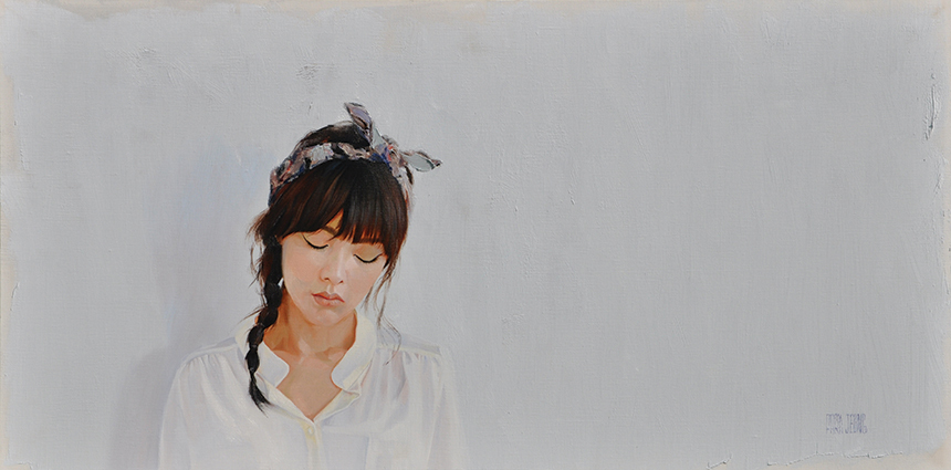 시선: 116.8x58cm Oil on Canvas 2014