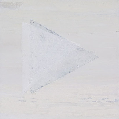 다시… White: 72.7×72.7cm Mixed media 2020